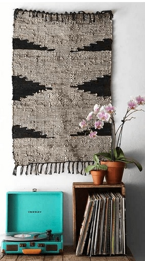 Magical Thinking Woven Leather Rug