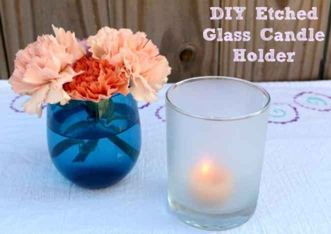 Make Frosted Glass Candle Holders with Blinds.com and Sensibly Sara
