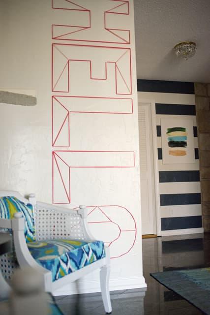 Hello Washi Tape Wall Art