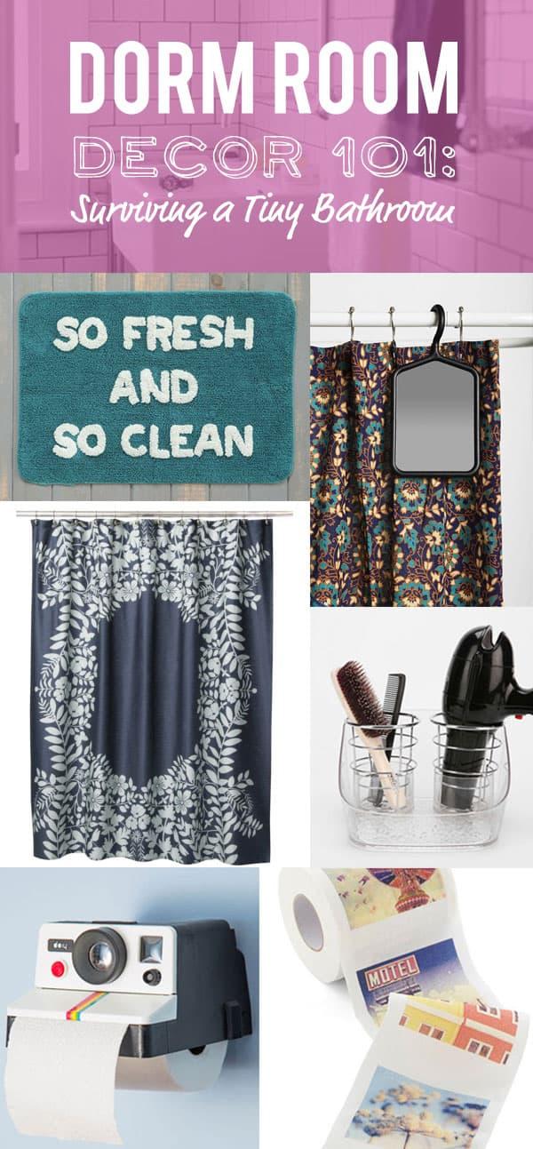 Dorm Room Decor 101: Surviving a Tiny Bathroom