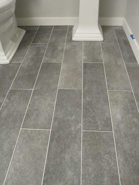 grey tile bathroom slate