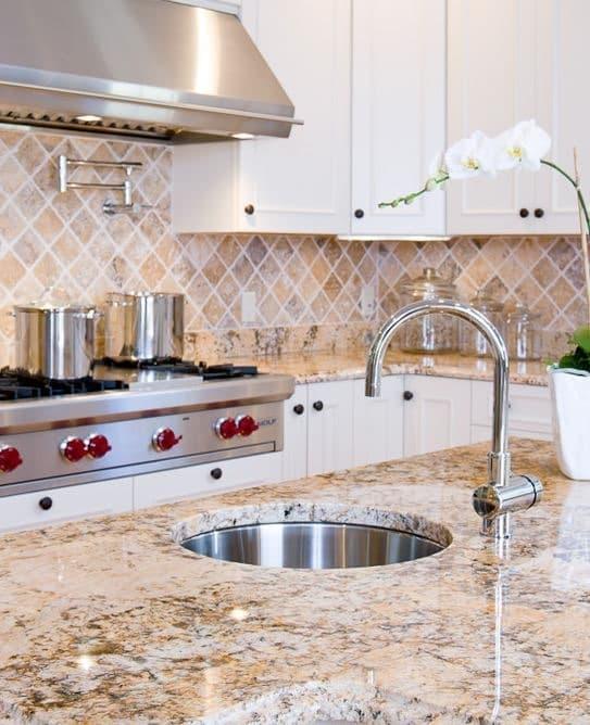 light brown granite countertops