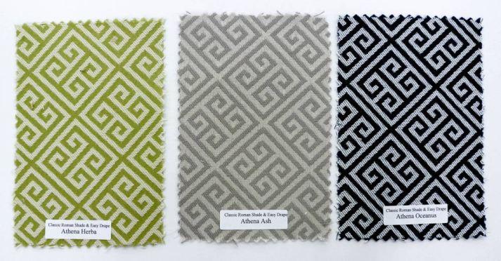 Blinds.com Classic Roman Shade Fabrics Greek Key
