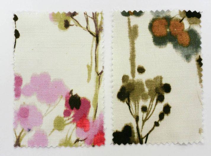Blinds.com Classic Roman Shade Fabrics Watercolor Floral