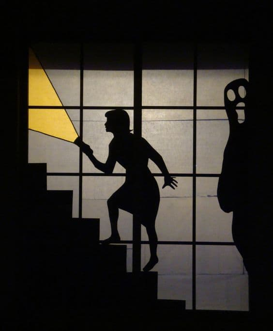 Nancy drew halloween window silhouette