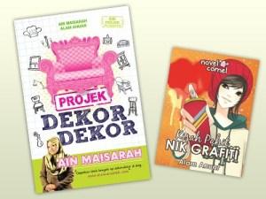 Buku Projek Dekor-Dekor Ain Maisarah dan novel comel Kisah Pahit Nik Grafiti