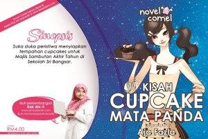 Novel Comel Cupcake Mata Panda