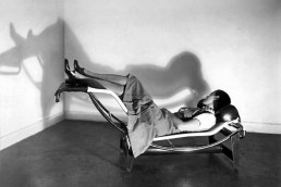 charlotte-perriand-in-the-lc4-demonstrating-its-different-sitting-positions-lc4-chaise-lounge-dwg-lc4-chaise-longue-replica-lc4-chaise-longue-nz