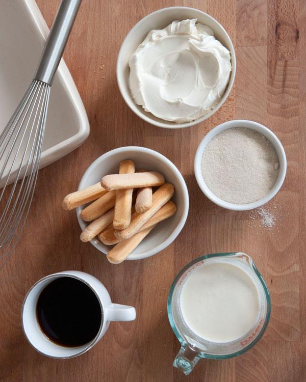 easy tiramisu ingredients