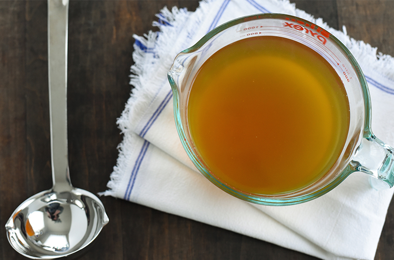 Vegetable Stock Made from Saved Vegetable Scraps