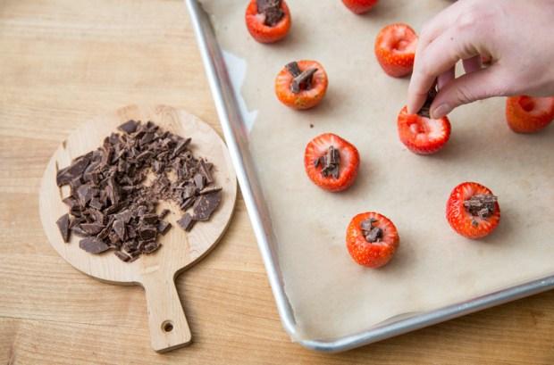 Two-Ingredient Dessert: Roasted Chocolate-Stuffed Strawberries