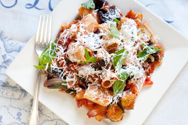 Pasta Alla Norma Eggplant and Tomato Sauce