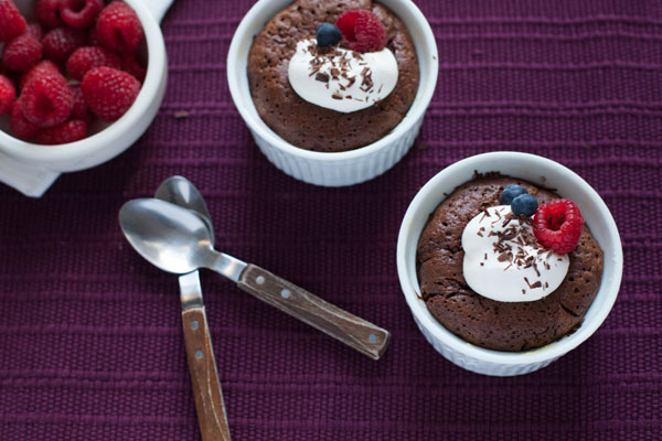 Molten Chocolate Cake from Blue Apron