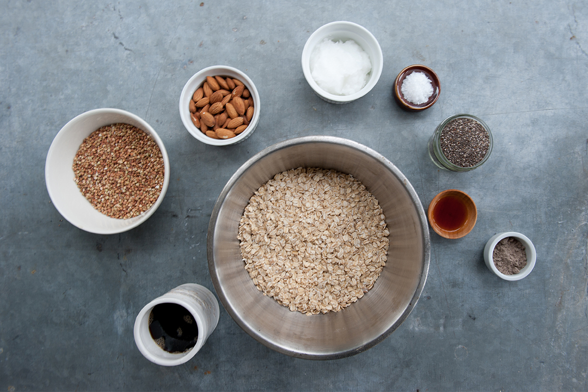 Cardamom & Chia Granola Ingredients
