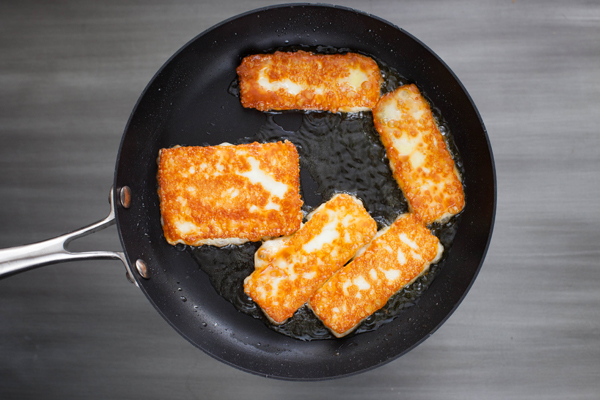 how to fry halloumi