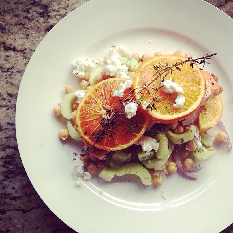 Blood Orange Salmon by  @wilsonwife