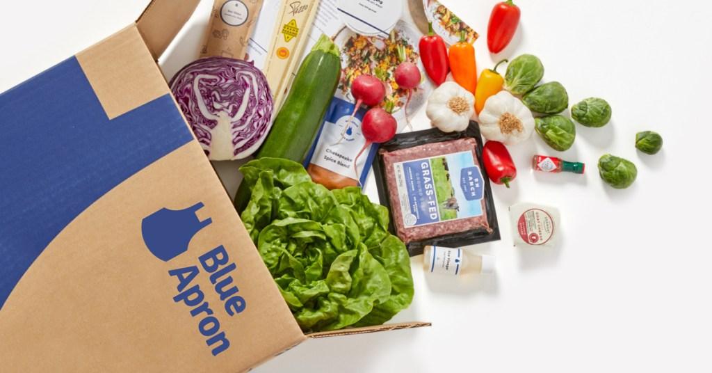 blue apron box contents