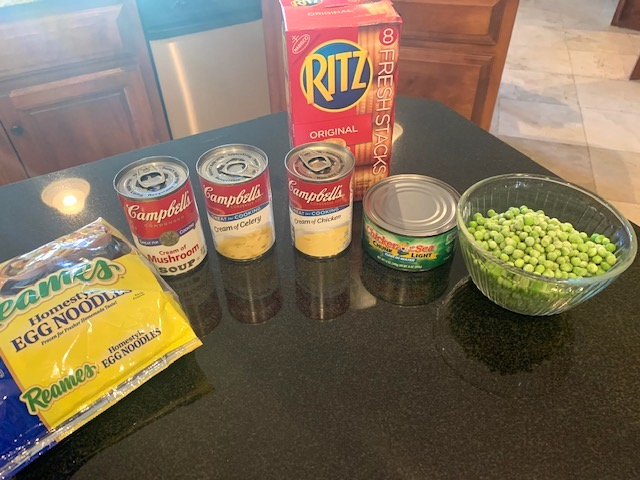 Tuna noodle casserole ingredients