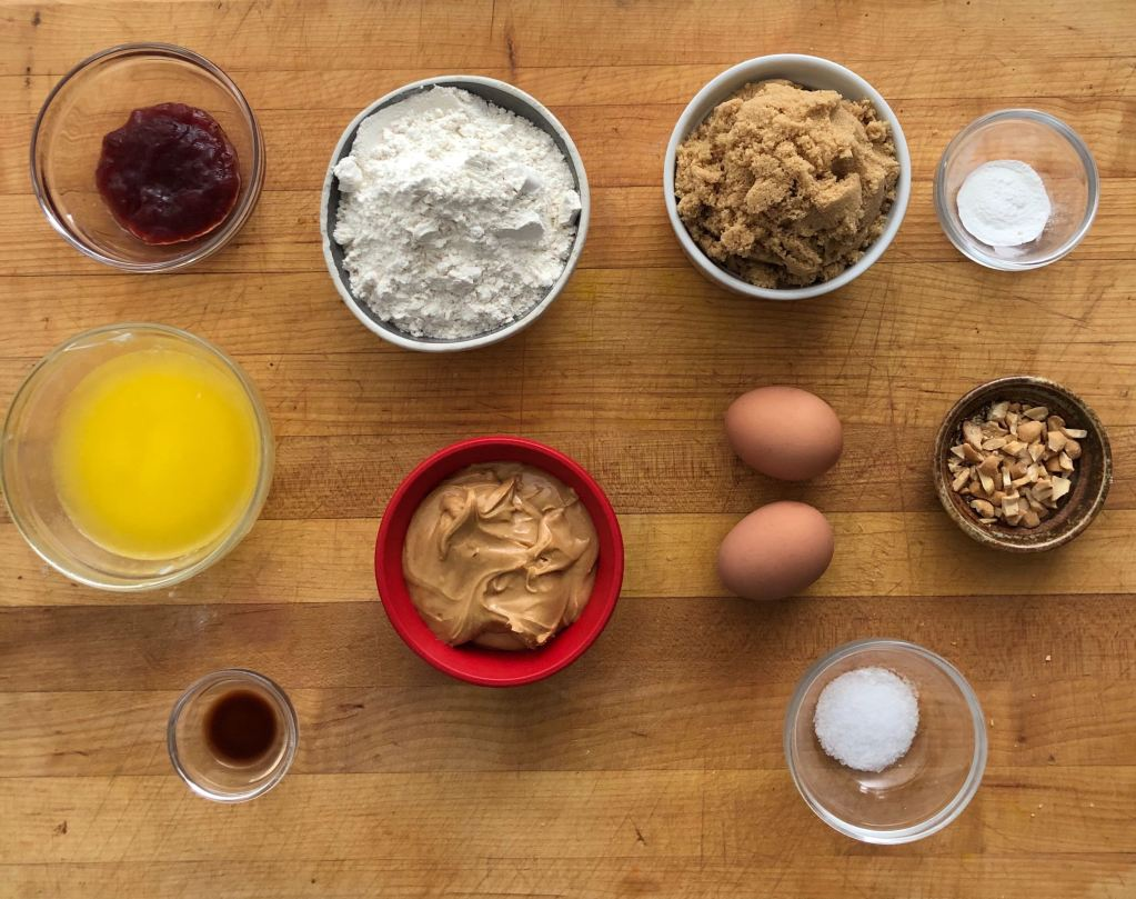 peanut butter and jelly bar ingredients