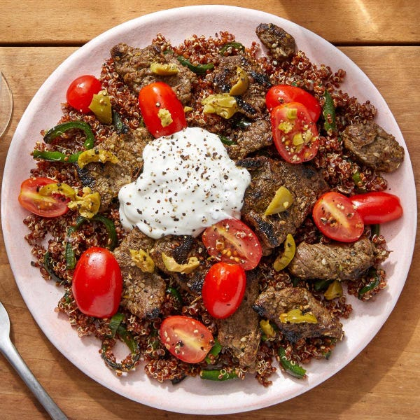 beef spiced with za'atar