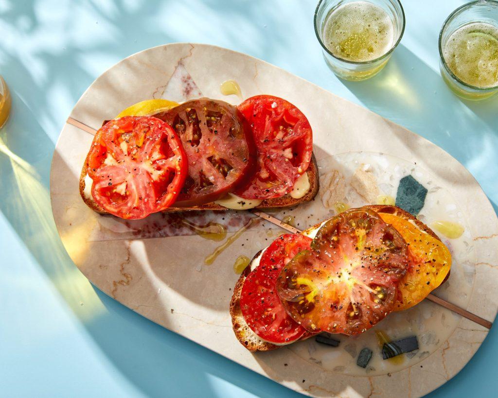 summer tomato toast