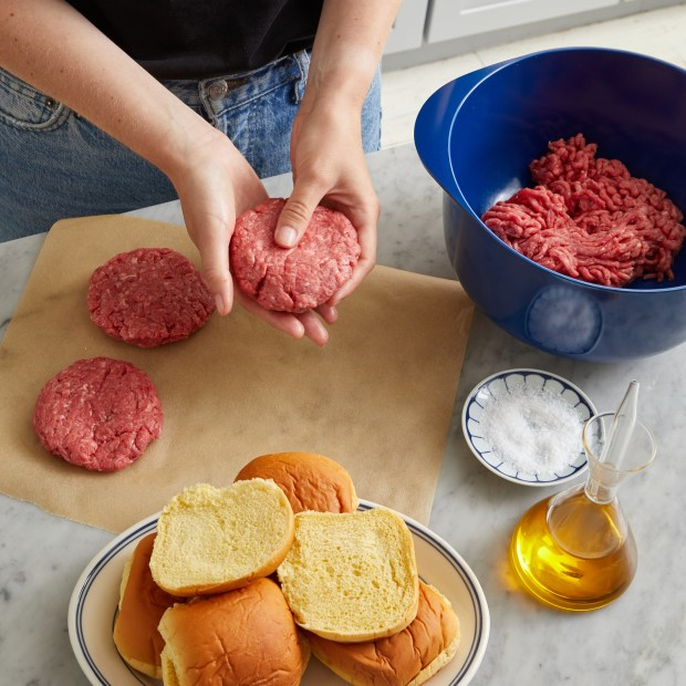 Shaping the Burger Patty for Cooking