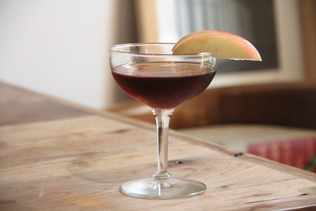 Apple honey bourbon cocktail