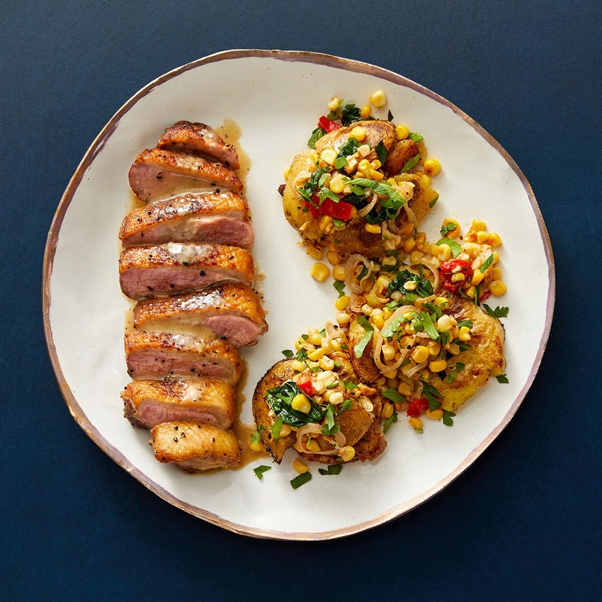 Recipe of Seared Duck with Dijon Sauce