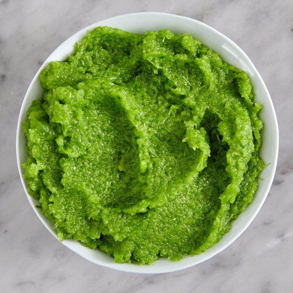 Making Pea Pod Puree