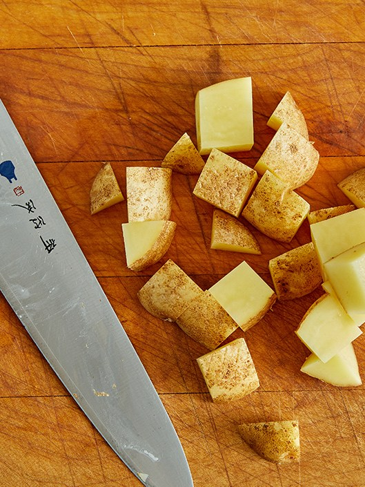 large diced potatoes