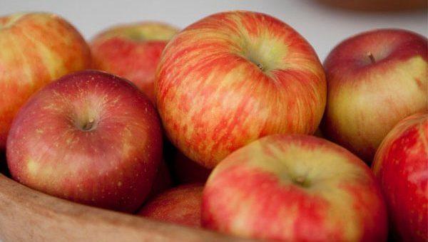 apples as a christmas centerpiece