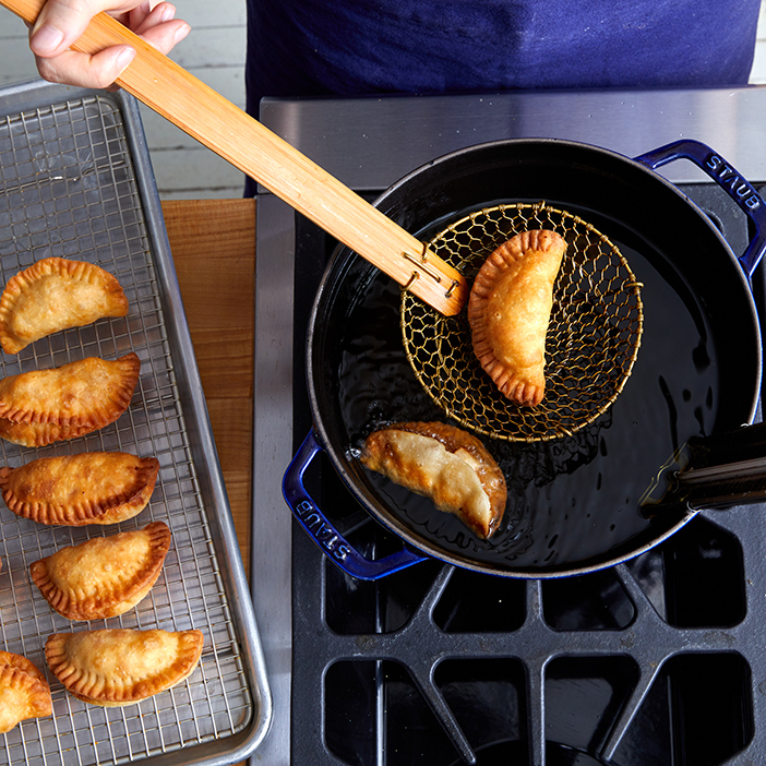 Frying Apple Turnovers