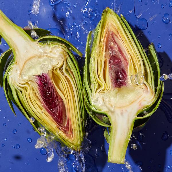 artichoke cut in half