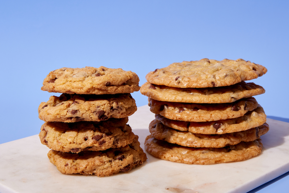 stacked flat cookies