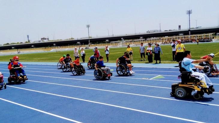 三郷市の車椅子マラソンイベント