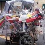 ストレッチャータイプ車椅子雨具