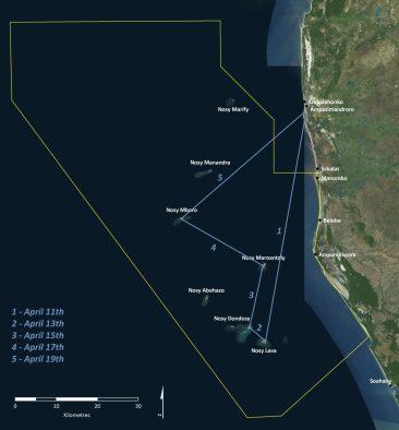 Map of area surveyed