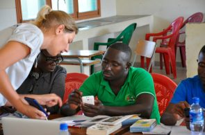 Anouk and Saide at the training workshop