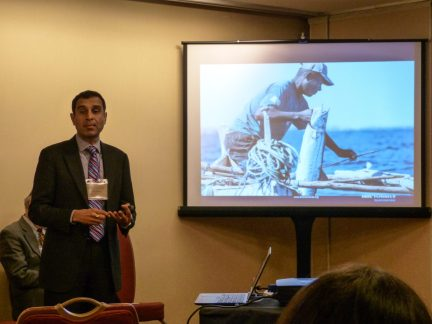 Vik presenting on PHE at the NCSE conference
