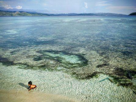 The shallow reefs of Bone Baru   Photo: Alasdair Harris