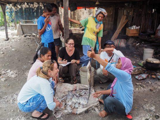Weighing octopus on Darawa Island