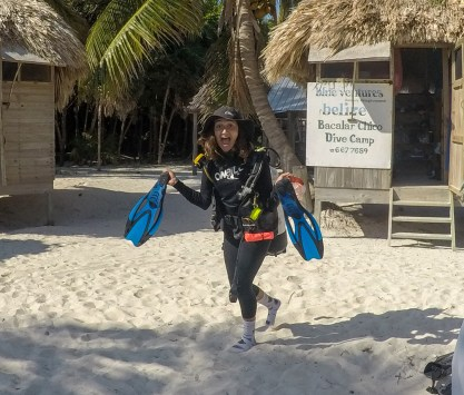 Kaesha in her dive gear | Photo: William Healy