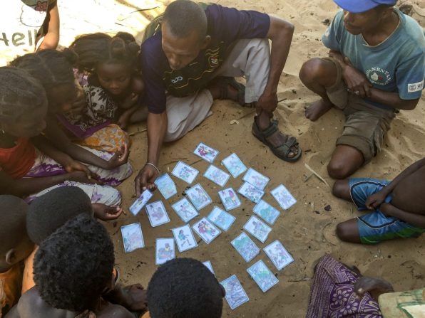Toalidy trialling the PHE cards in the communities around Maintirano | Photo: Nick Reed-Krase