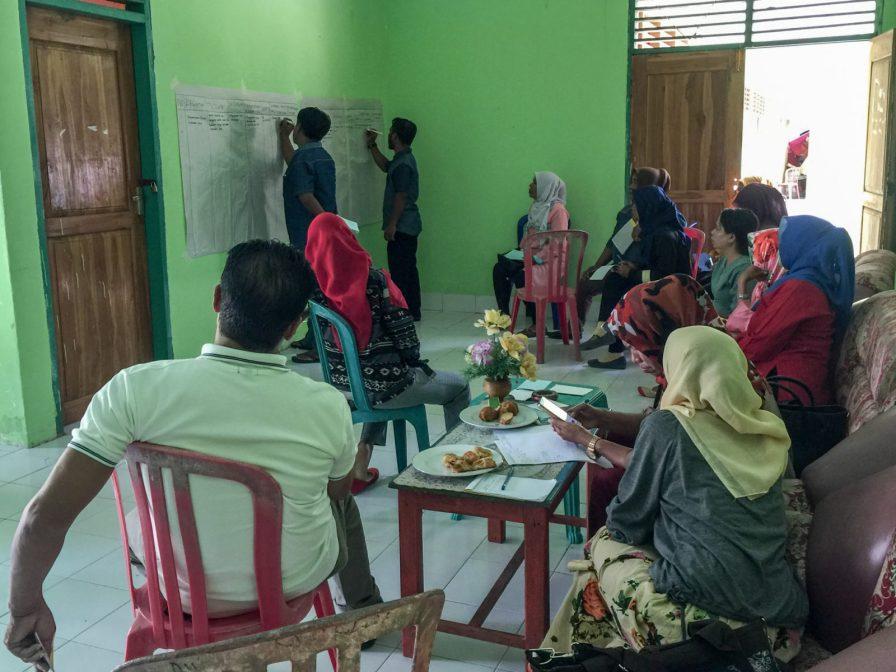Group discussion between Forkani, PHC and two women's groups | Photo: Ratih Pertiwi