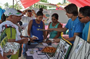 A lionfish outreach event in Sarteneja