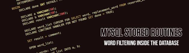 MySQL Stored Routines