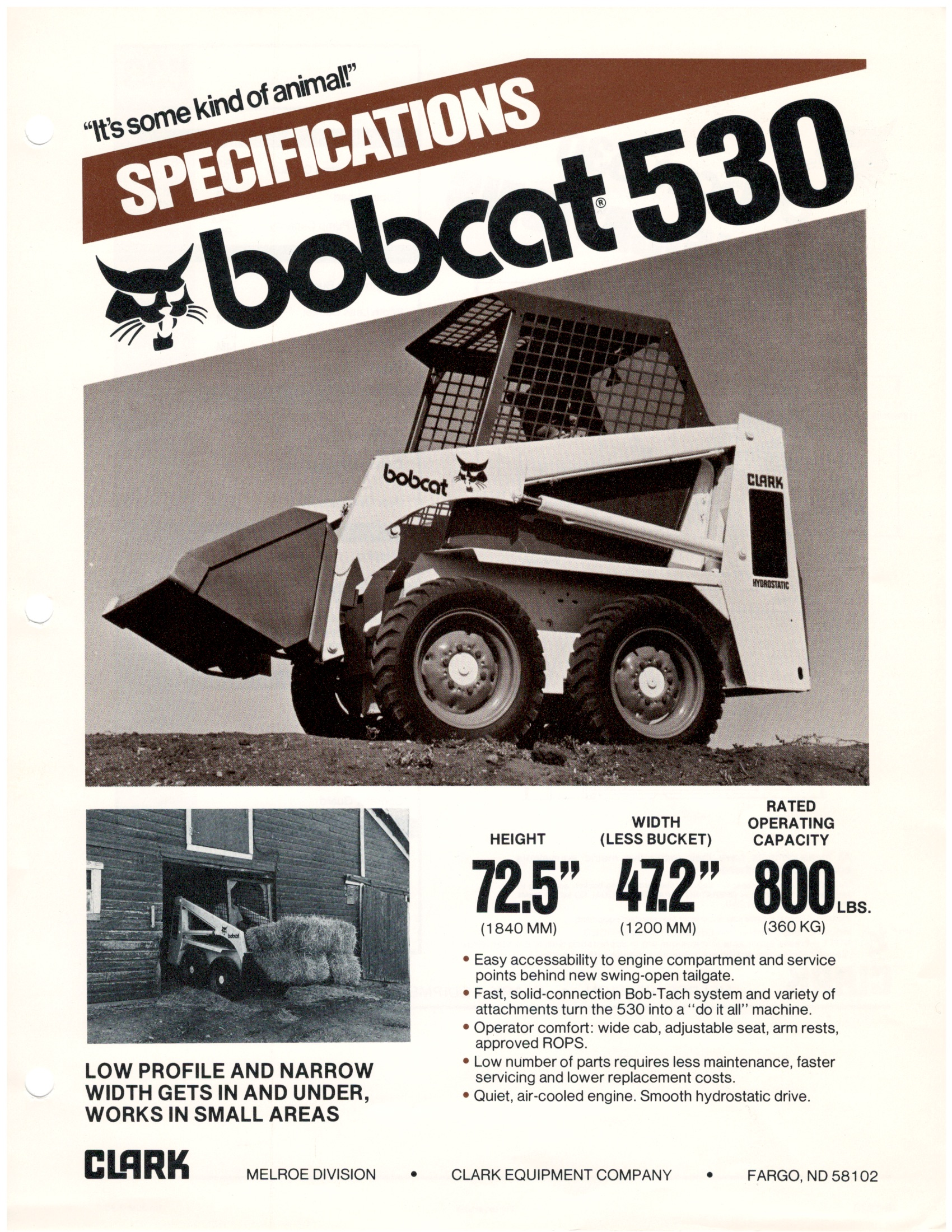 bobcat 530 spec sheet 1980 rh blog bobcat com