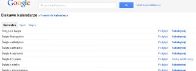 "Google Calendar vs ""Jutro swieto? Jakie?!"""