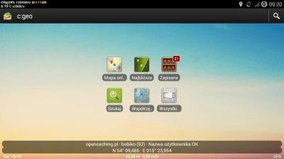 C:geo – potężna aplikacja dogeocaching