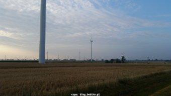 Wiatrowa Farma w okolicy Margonina